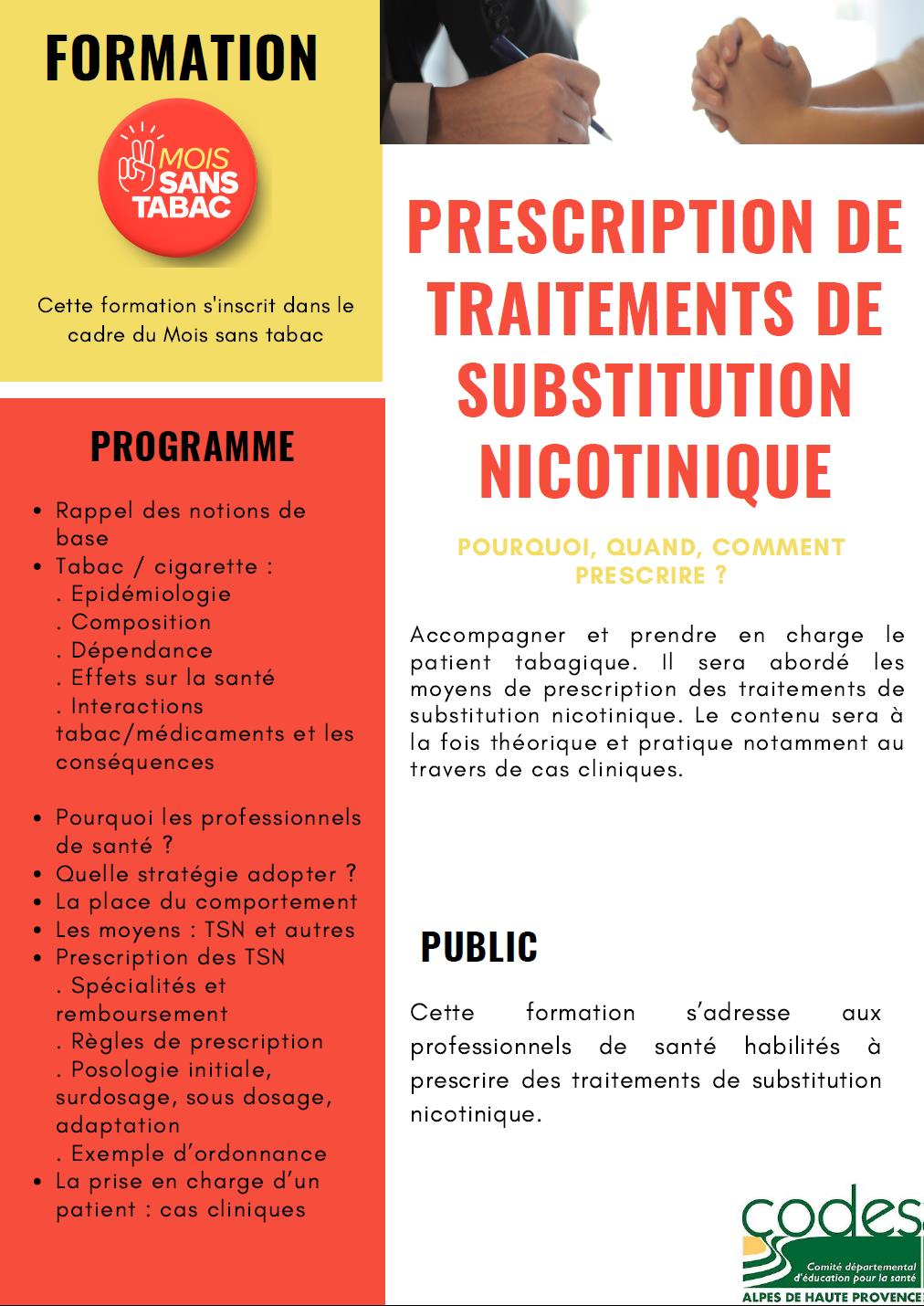 image 1 Formation prescription de traitements de substitution nicotinique