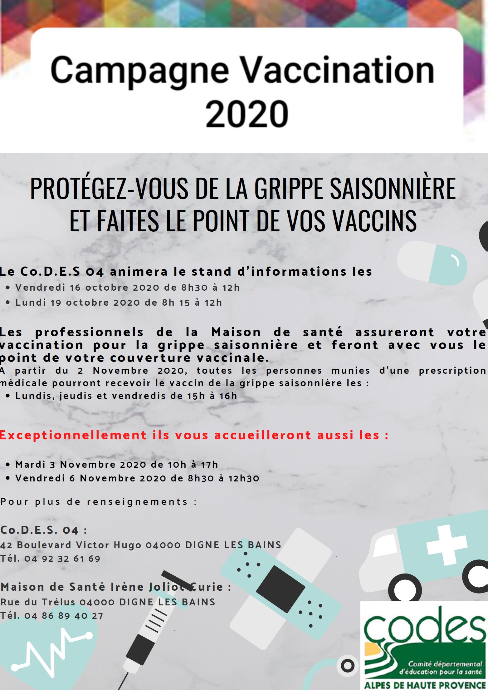 image affiche campagne vaccination 2020