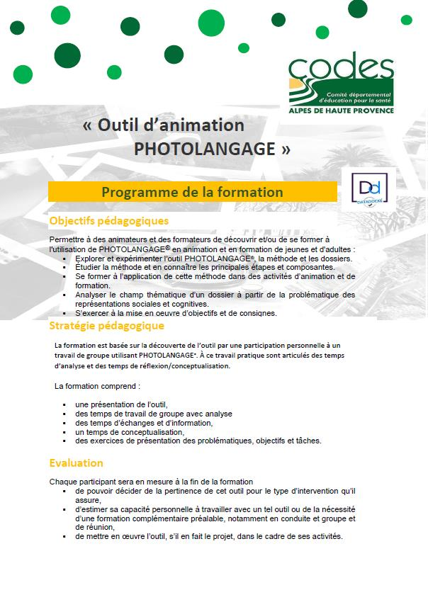 Outil animation PHOTOLANGAGE 1