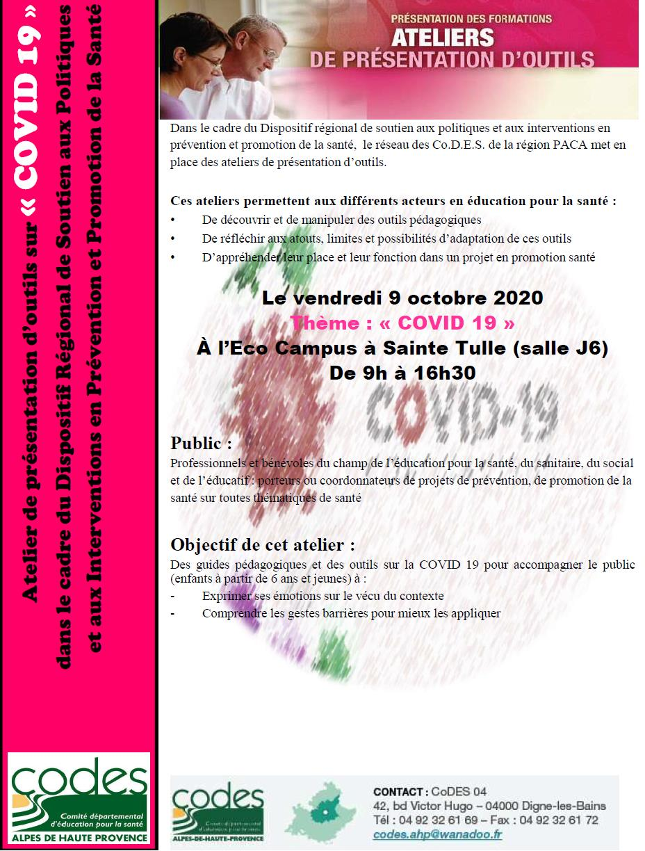 atelier COVID 19 page 1